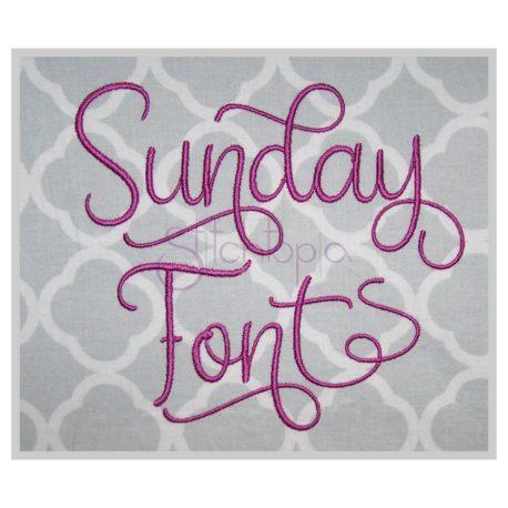 Stitchtopia Sunday Embroidery Font
