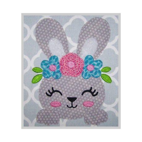 Stitchtopia Bean Stitch Bunny Face Applique c