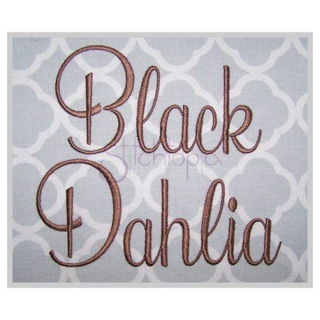 Stitchtopia Black Dahlia Embroidery Font
