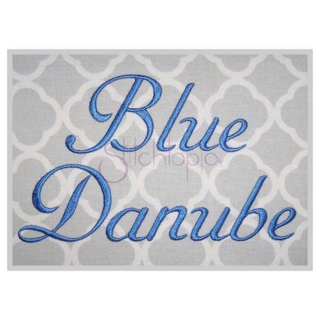 Stitchtopia Blue Danube Embroidery Font