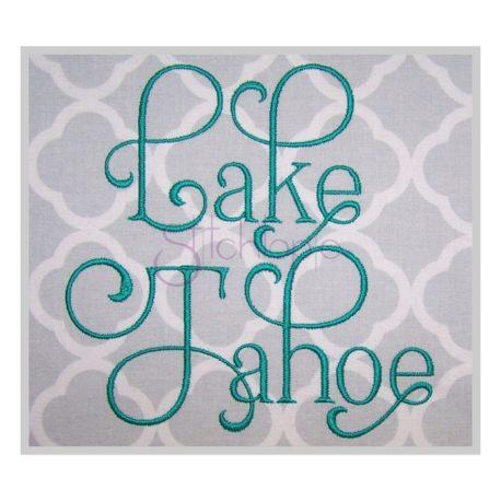 Stitchtopia Lake Tahoe Embroidery Font #2