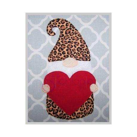 Stitchtopia Raggy Heart Gnome Applique
