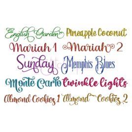 Script Embroidery Font Bundle #8 – 10 Fonts