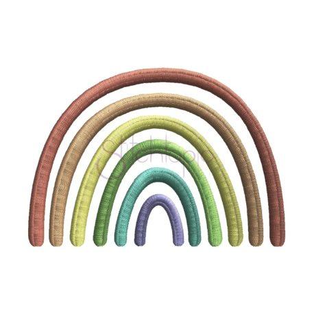 Stitchtopia Boho Rainbow 6 Color Embroidery Design