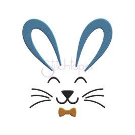 Bunny Face Boy Embroidery Design