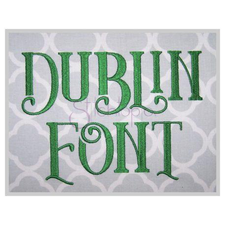Stitchtopia Dublin Embroidery Font