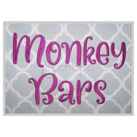 Stitchtopia Monkey Bars Embroidery Font