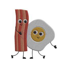 Bacon & Egg Embroidery Design