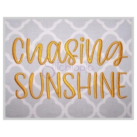 Stitchtopia Chasing Sunshine Embroidery Font