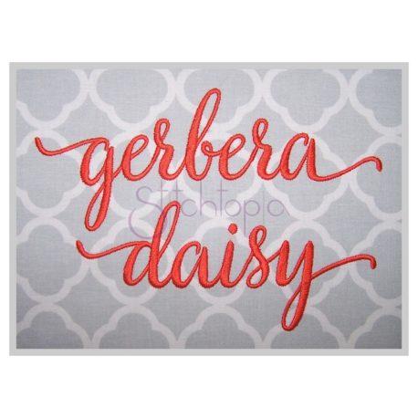 Stitchtopia Gerbera Daisy #2 Embroidery Font