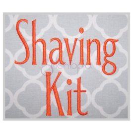 Shaving Kit Embroidery Font .75″ 1″ 1.25″ 1.5″ 2″