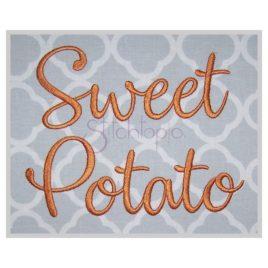 Sweet Potato Embroidery Font 1″ 1.25″ 1.5″ 2″ 2.5″