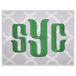 Sycamore Monogram Font 1″ 1.25″ 1.5″ 2″ 2.5″ 3″ 3.5″