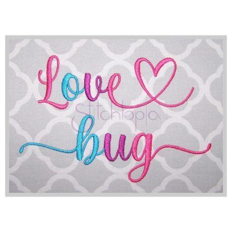 Stitchtopia Love Bug Embroidery Font Bundle b