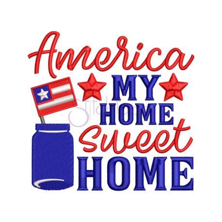 Stitchtopia America My Home Embroidery Design