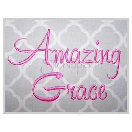 Stitchtopia Amazing Grace Embroidery Font