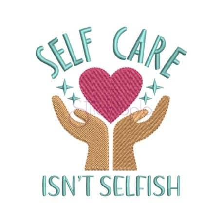 Stitchtopia Self Care Embroidery Design