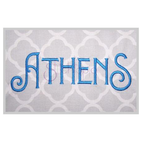 Stitchtopia Athens Embroidery Font