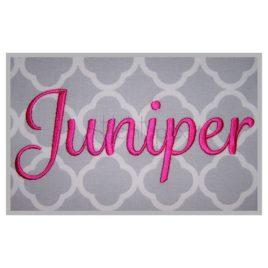 Juniper Embroidery Font Set – .5″ 1″ 1.5″ 2″ 2.5″ 3″