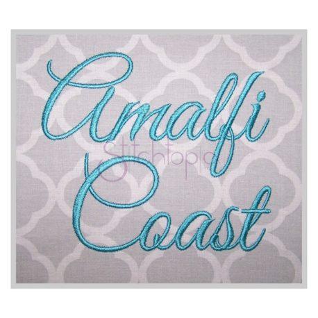 Stitchtopia Amalfi Coast Embroidery Font