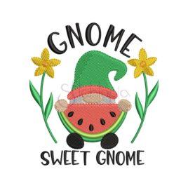 Gnome Sweet Gnome Embroidery Design