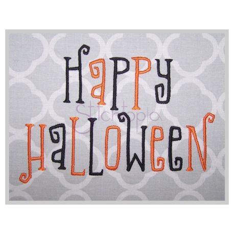 Stitchtopia Happy Halloween Embroidery Font
