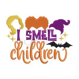 I Smell Children Embroidery Design