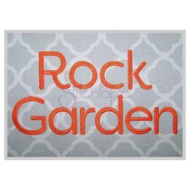* Rock Garden Embroidery Font .5″ 1″ 1.25″ 1.5″ 2″