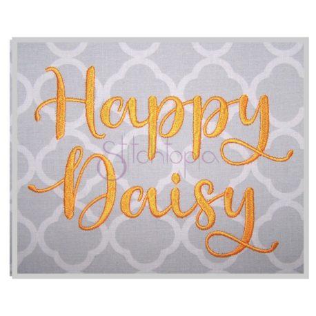 Stitchtopia Happy Daisy Embroidery Font