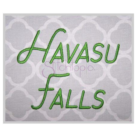 Stitchtopia Havasu Falls Embroidery Font